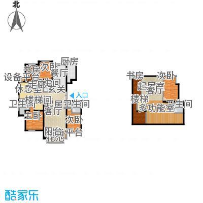 领秀·翡翠山221.00㎡领秀・翡翠山一期10#F3户型