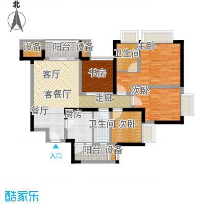 东源香郡D1户型4室1厅2卫1厨