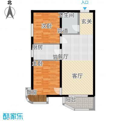 天洋城4代88.90㎡一期1、7、13号楼B5户型