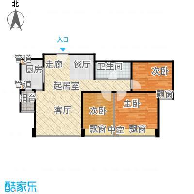 合生滨江帝景99.50㎡二期C3C5C8号住宅楼F户型
