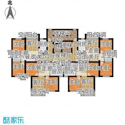金隅汇星苑7#楼标准层平面户型