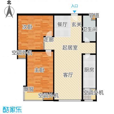 合生滨江帝景89.36㎡二期D户型