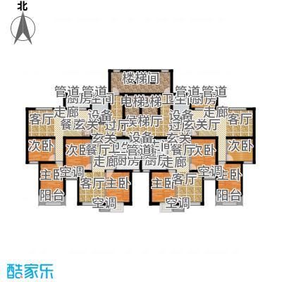 金隅汇星苑5#楼标准层平面户型