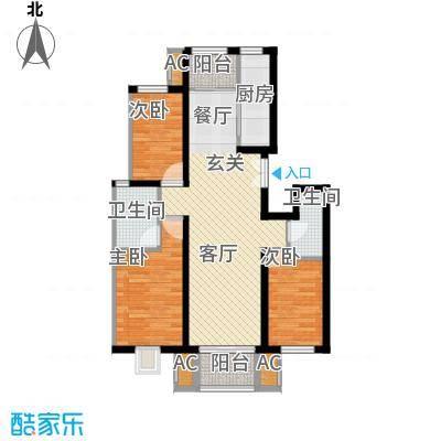 百旺杏林湾118.00㎡二期三居户型