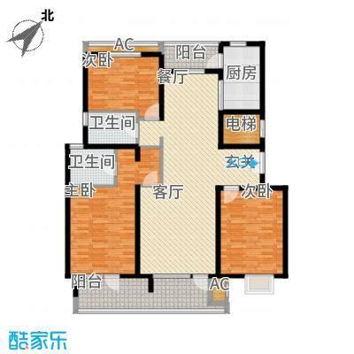 百旺杏林湾135.00㎡一期3居(售罄)户型