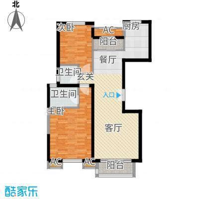 百旺杏林湾105.00㎡二期两居户型