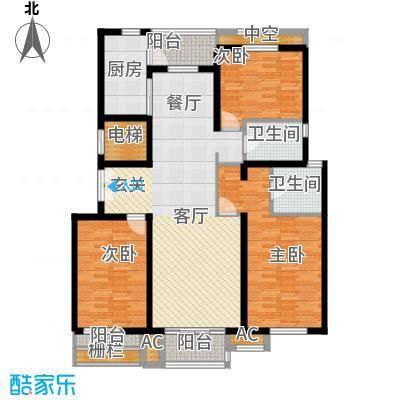 百旺杏林湾139.00㎡一期3居(售罄)户型