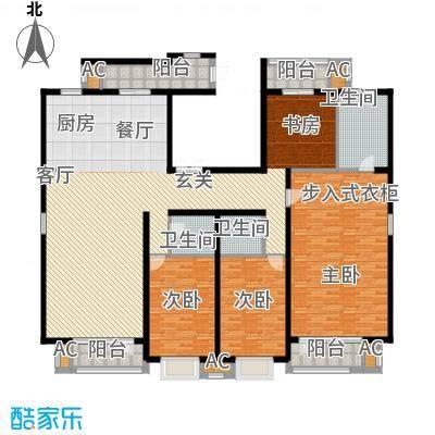 百旺杏林湾231.00㎡一期3居(售罄)户型