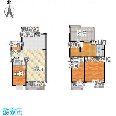 百旺杏林湾231.00㎡一期跃层3-(售罄)户型