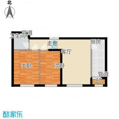 天润福熙大道85.18㎡A8号楼NO2户型