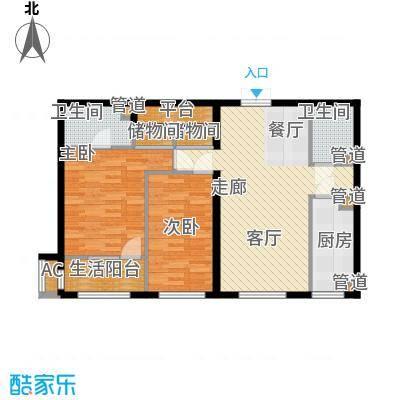 天润福熙大道106.34㎡C6#1-02(售罄)户型