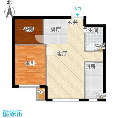 天润福熙大道73.35㎡C8#2-03(售罄)户型