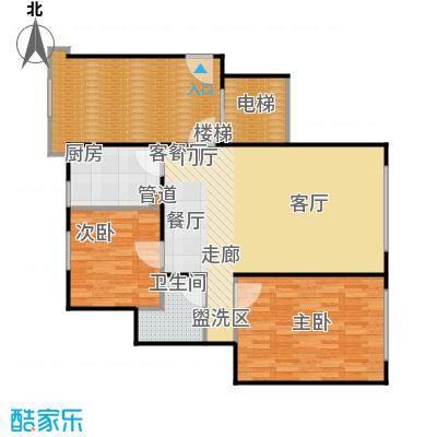 北京城建·世华龙樾85.00㎡北京城建・世华龙樾一期F户型