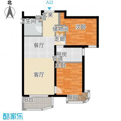 天洋城4代89.80㎡一期1、7、13号楼B2反户型