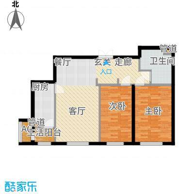 天润福熙大道95.27㎡A6号楼2-02户型
