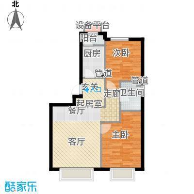 润泽公馆8#楼J-3(标准层明卫)户型