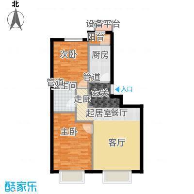 润泽公馆8#楼J-2(标准层暗卫)户型