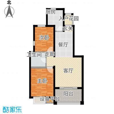 锦绣香江水城90.00㎡1、2、3、10、11号楼标准层D户型