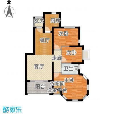 锦绣香江水城90.00㎡1、3、10、11号楼标准层E户型