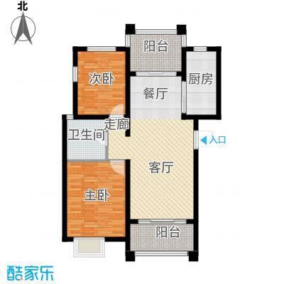 锦绣香江水城90.00㎡5、7、8、9、12、13号楼标准层A户型