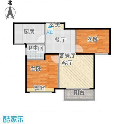 鸿坤·原乡小镇75.00㎡鸿坤・原乡小镇花涧公馆G户型