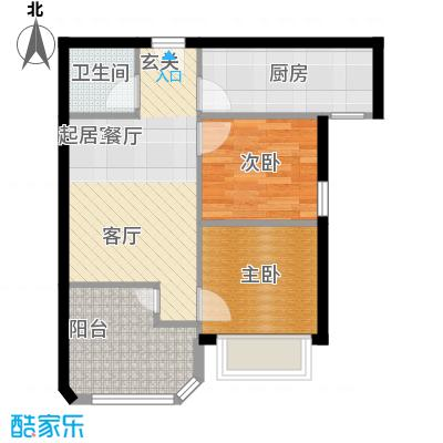 鸿坤·原乡小镇71.83㎡鸿坤・原乡小镇布谷泉户型