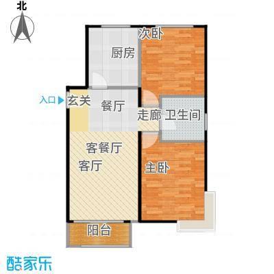 鸿坤·原乡小镇86.00㎡鸿坤・原乡小镇花涧公馆F户型