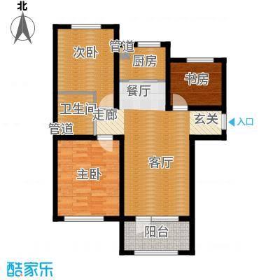 K2京西狮子城87.84㎡2、6、7号楼B-1户型