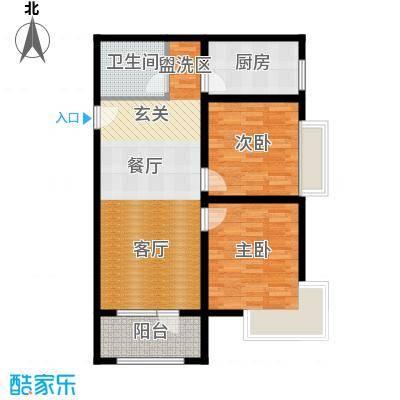 K2京西狮子城78.92㎡2、6、7号楼C-3户型