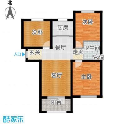 K2京西狮子城88.18㎡2、6、7号楼B-3户型