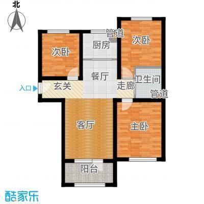 K2京西狮子城88.72㎡2、6、7号楼A-3户型