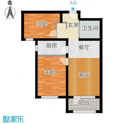 K2京西狮子城78.76㎡2、6、7号楼A-2户型
