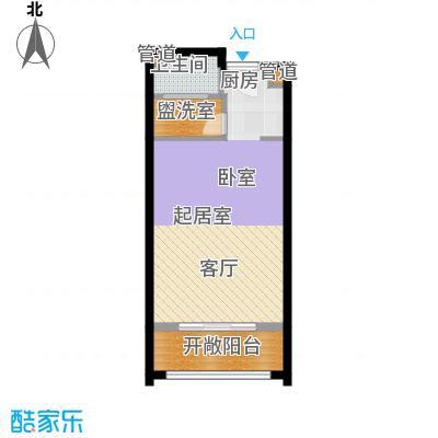 佳兆业东戴河54.00㎡四期B户型
