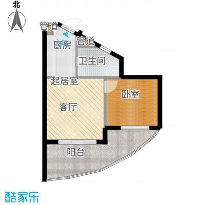 佳兆业东戴河60.00㎡五期E户型