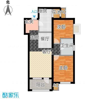 鸿坤·理想湾83.60㎡鸿坤・理想湾D户型