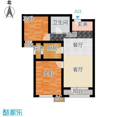 鸿坤·理想湾87.00㎡鸿坤・理想湾B-3户型