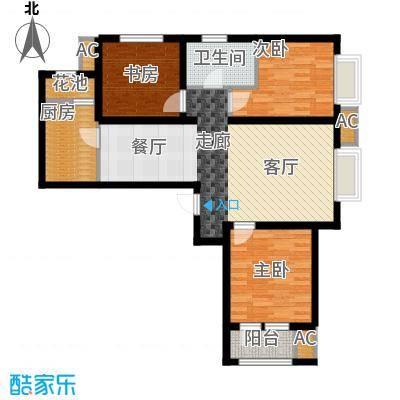 鸿坤·理想湾97.40㎡鸿坤・理想湾E户型