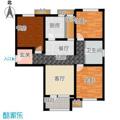 鸿坤·理想湾98.90㎡鸿坤・理想湾F户型