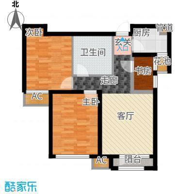 鸿坤·理想湾88.60㎡鸿坤・理想湾B户型