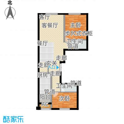 中海枫丹公馆140.00㎡FD-E户型