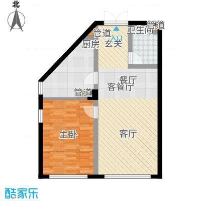 中海枫丹公馆72.00㎡FD-G户型