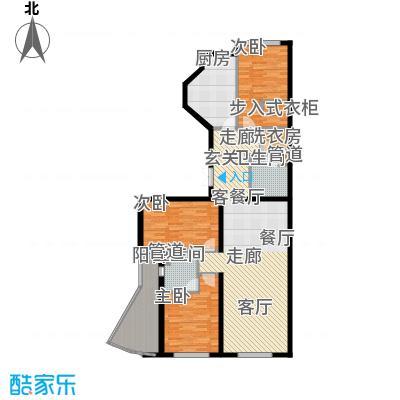 中海枫丹公馆150.00㎡FD-D户型