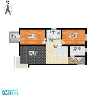 京洲世家94.08㎡4号楼D户型