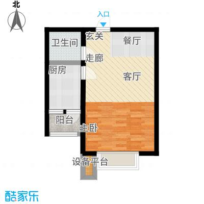 远洋海悦公馆54.00㎡1、3号楼A2户型