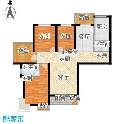 金屋·秦皇半岛138.42㎡金屋・秦皇半岛26#楼A户型