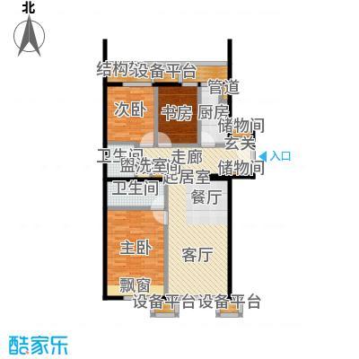 京投银泰万科西华府115.13㎡3#、6#楼A2反户型