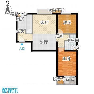 京投万科新里程89.00㎡二期H户型