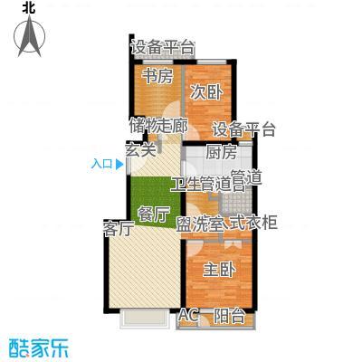 京投万科新里程102.00㎡二期A户型