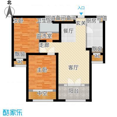 新华联慧谷86.50㎡10-12#楼B户型