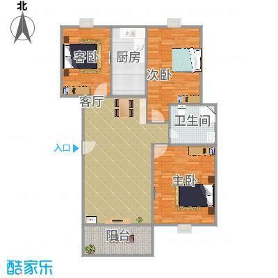 新都华城H户型116方3室2厅